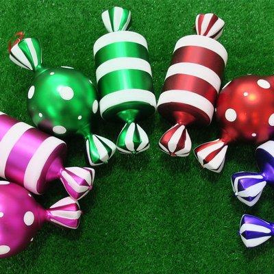 婚慶節日聖誕糖果裝飾品38CM彩色糖果聖誕樹裝飾掛件照相道具單個