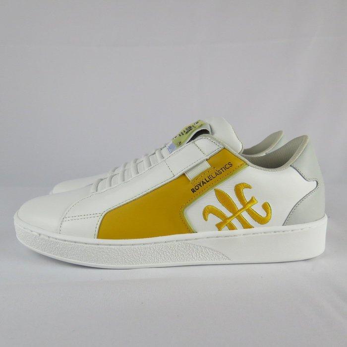 【iSport愛運動】Royal 無鞋帶 休閒鞋 公司貨 02692038 男款 拼接 - 有半碼 黃
