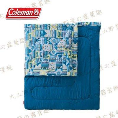 【大山野營】Coleman CM-27257 2in1 5℃家庭睡袋 信封型睡袋 纖維睡袋 可全開併接
