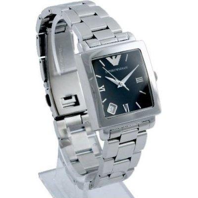 【EMPORIO ARMANI - AR 5303 】100% 全新正品 時尚 不鏽鋼 名錶.手錶 / 黑色 (防水50m)【附原廠盒】