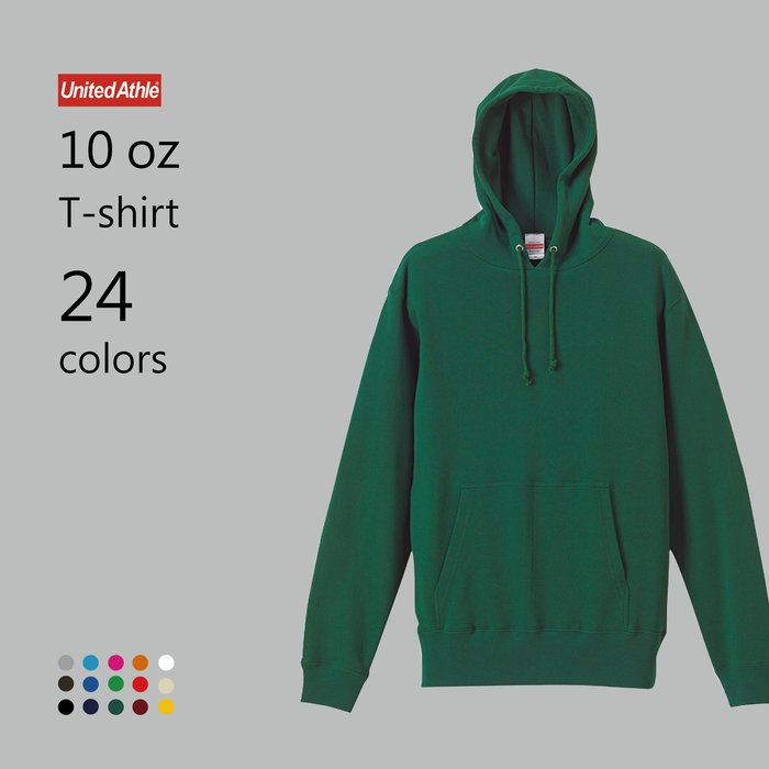 WaShiDa【UA5214】United Athle × 10磅 全棉 長袖 落肩 口袋 連帽 運動衫