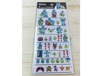 *Miki日本小舖*日本迪士尼怪獸大學 毛怪 單眼怪 造型貼紙 日本製