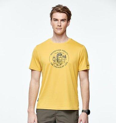 荒野 wildland  春夏T恤  0A91628 男椰炭紗抗菌抗UV圓領衣 戶外休閒服飾 吸濕排汗 抗UV