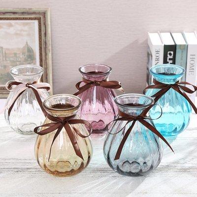 歐式花瓶歐式簡約創意玻璃花瓶植物陽臺透明花瓶桌面擺件裝飾品