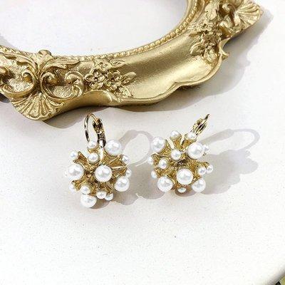 FAINO 巴洛克煙花珍珠耳釘女2019新款潮韓國個性網紅耳環氣質耳墜耳飾