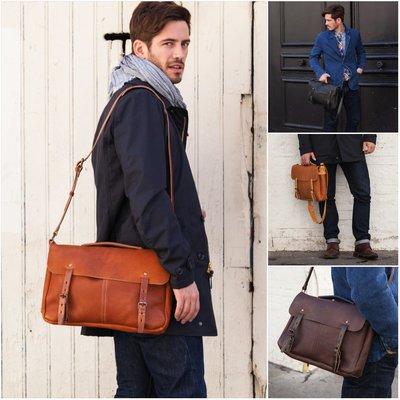 法國手工製 Bleu de Chauffe JUSTIN PLUMBER BAG 真皮 有機植物染 書包 側背包 肩背包