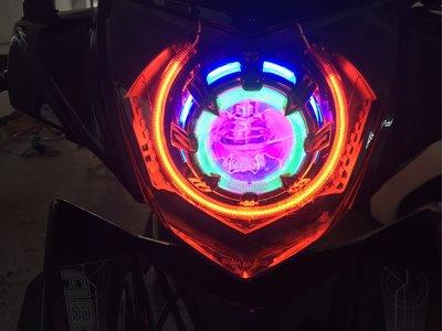 Bon 2.5吋 魚眼燈具組 含光圈 線組 45w hid 整套5000 Bws 勁戰 雷霆 rs cuxi irx