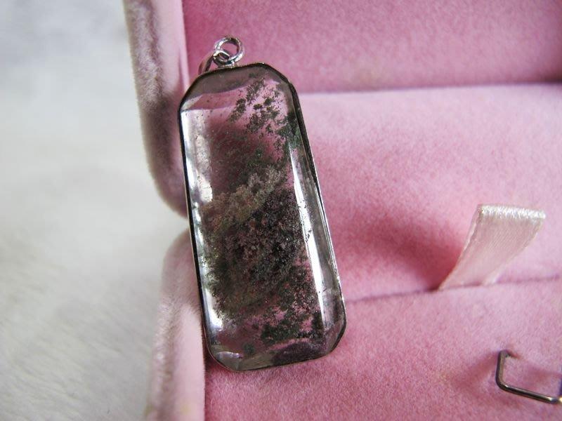 二手舖~ NO.45 天然綠幽靈水晶墜子 帶紫