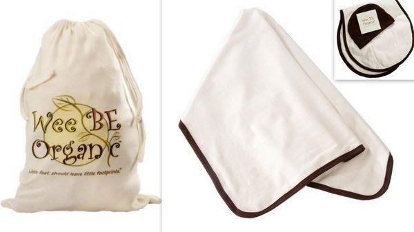 【N's】Wee Be Organic 美國100%有機棉認證嬰兒被 三件組 嬰兒被+尿布墊+嬰兒帽 彌月禮