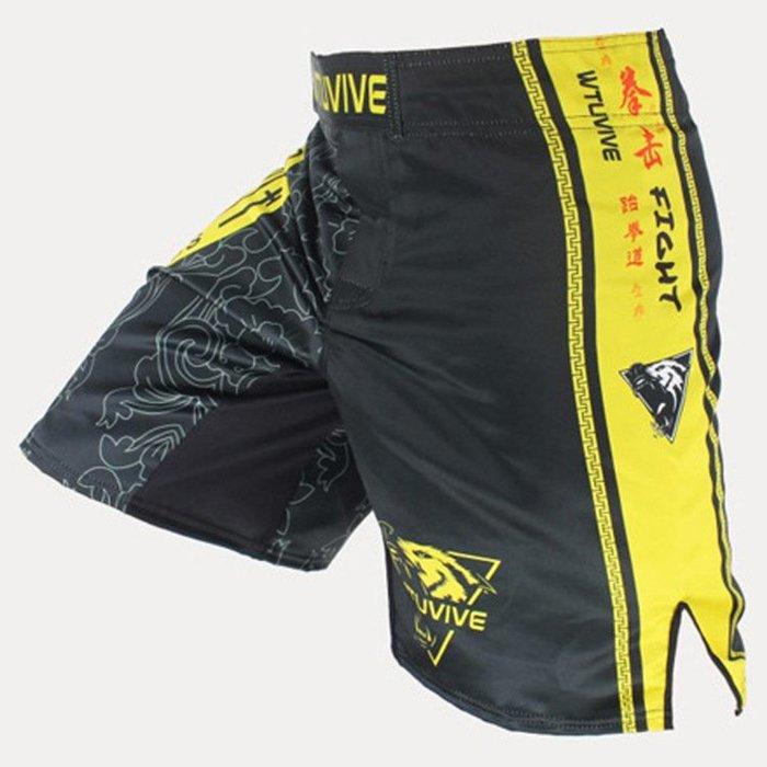 MMA短褲泰拳拳擊健身訓練褲UFC格鬥搏擊散打武術拳褲