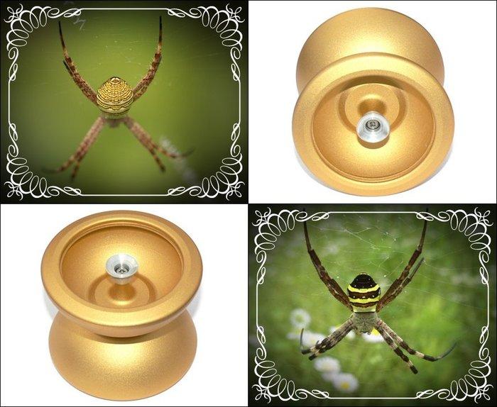 奇妙的溜溜球世界 黃金蜘蛛 表面磨砂處理 質感佳 握感舒適 鋁合金球體+金屬側軸 性能佳 可玩hubstack特殊花式