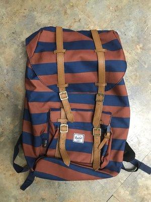 保證真品Herschel 條紋帆布後背包backpack 超低價出售