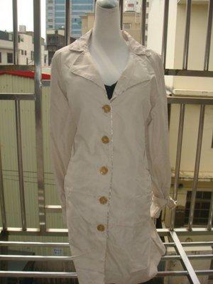 ((1 4))全新 白色防風高質感長風衣 30 一元起標,可合併郵資