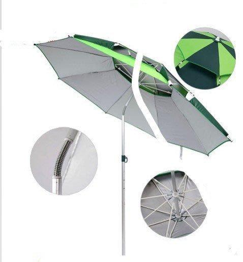 【優上精品】魚傘雙層防紫外線 防雨 萬向 防曬 遮陽傘釣魚 漁具傘釣魚傘 防(Z-P3110)