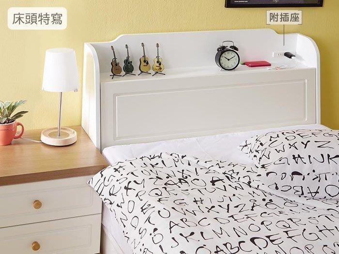 【DH】貨號J338-1名稱 《英式》小屋5尺床頭箱(圖一)附插座.可掀開置物.備有3.5尺可選台灣製主要地區免運費