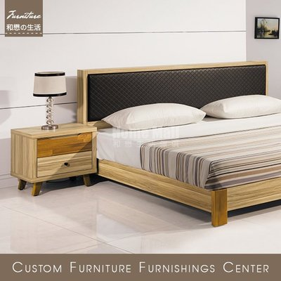 HOME MALL~瑪莎栓木色床頭櫃 $2600~(雙北市4樓以下免運費)7J