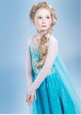 韓版冰雪奇緣  萬聖節 小公主洋裝禮服 艾莎公主 安娜公主 表演服 加公主皇冠+權杖+長辮子特價599元