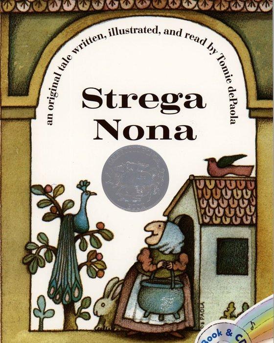 *小貝比的家*STREGA NONA(巫婆奶奶) [汪培珽英文書單]/平裝書+CD /3~6歲