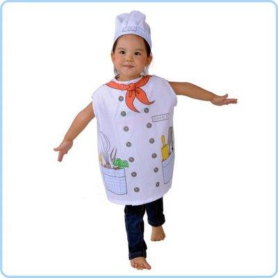 千奇坊 萬聖節表演裝扮兒童遊戲職業服裝角色衣服兒童廚師  Cosplay衣服