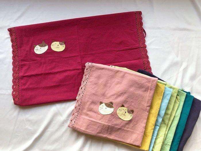 日本卡拉貓~gonpon拼接蕾絲記憶枕枕套 健康枕套