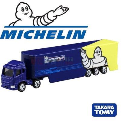 『 單位日貨 』無新車貼 日本正版 TOMICA多美 米其林 Michelin 貨車 卡車 合金 小車 NO.135