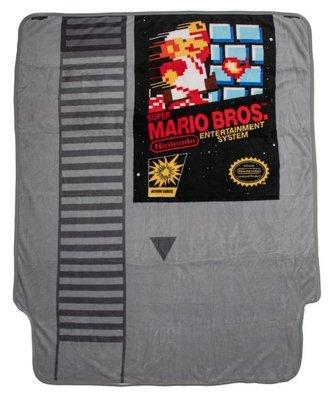 [現貨]超級瑪利歐空調毯 卡匣造型 天堂Nintendo 馬力歐兄弟 Super Mario 毛毯午睡宿舍交換生日禮品