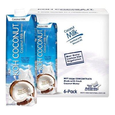 【小如的店】 COSTCO好市多線上代購~Koh Coconut 酷椰嶼 椰奶(1公升x6入)