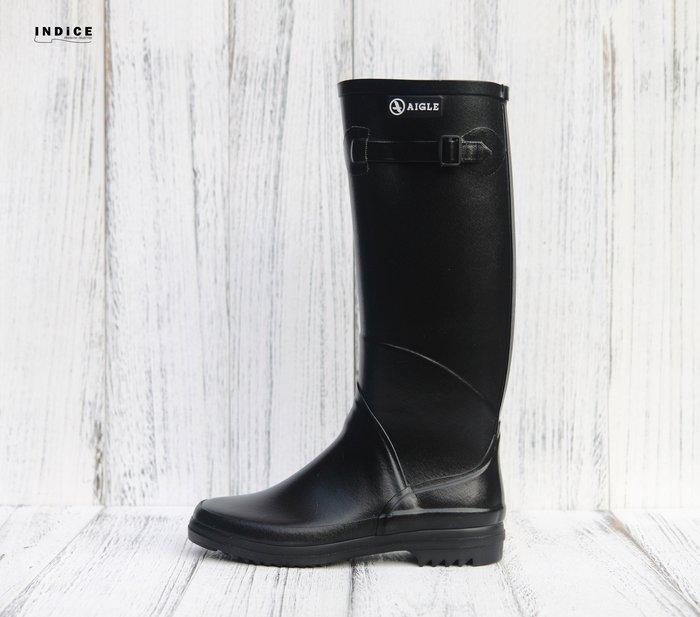INDiCE ↗ AIGLE Chantebelle JP 經典手工雨靴 法國製 深邃黑
