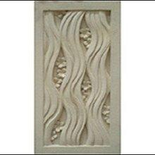 峇里島砂岩石雕片~長方形窗花壁飾花磚壁磚30x60cm