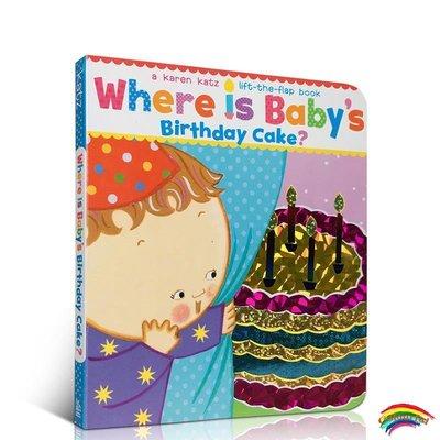 英文原版 Where Is Babys Birthday Cake 蛋糕在哪里 0-3歲英語親子繪本 入門啟蒙 躲貓貓