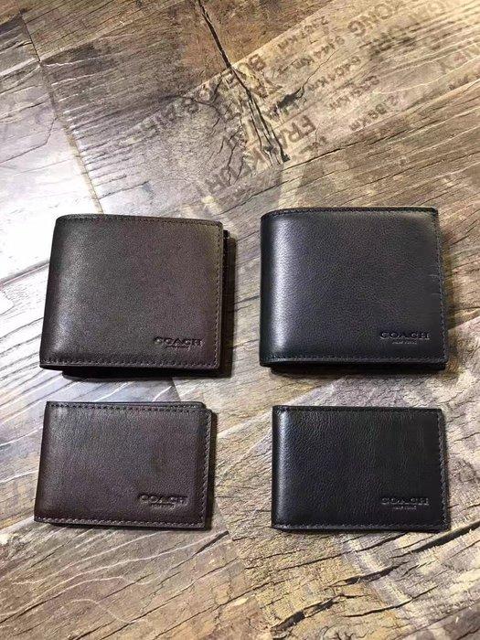 NaNa代購 COACH 74991 簡約時尚 男士短夾 附可拆卸相片夾 附購證