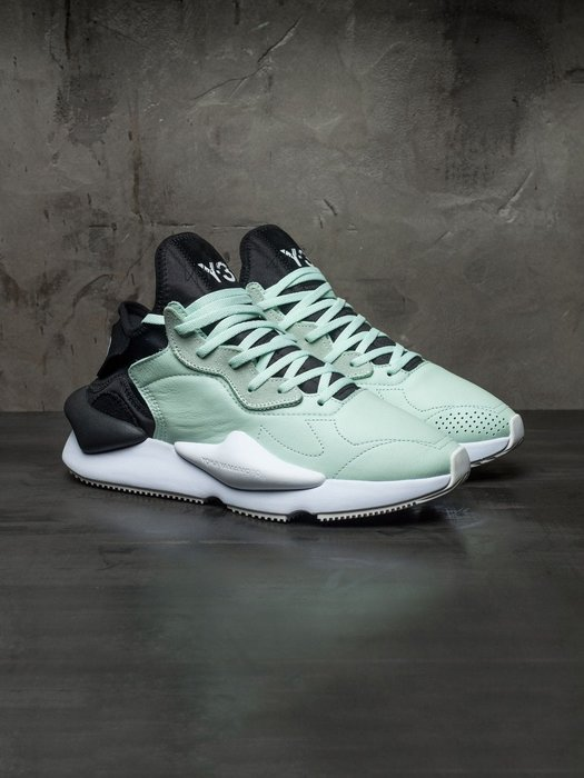 【Cheers】 Adidas Y-3 KAIWA 蒂芬尼綠 配色 黑尾 皮革款 F97414 限量 男鞋 山本耀司