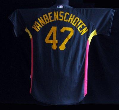 MLB Pittsburgh Pirates 海盜隊 #47 Benschoten GAME USED JERSEY