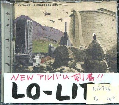 *真音樂* LO-LITE / A SUICIDAL ACT 日版 二手 K10756 (右殼切痕) (下標賣)