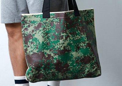 """樣衣-Sample Clothing 帆布購物袋 尺寸48X37.5 叢林數位迷彩 """"台灣製造"""""""