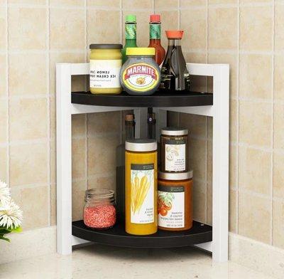 (訂貨價 $138up)扇形轉角 廚房收納架 雙層|三層 置物架 櫥櫃 碗櫃 醬油架 雜物架 Kitchen Rack