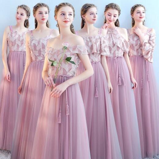 禮服 伴娘服長款 秋冬新款連身裙韓式修身加厚禮服伴娘團姐妹裙宴會晚禮服 洋裝—莎芭