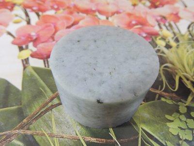 ~玉靈石~天然翡翠玉環心 紙鎮 直徑4.85公分 厚2.8公分 重約175公克  非 一元