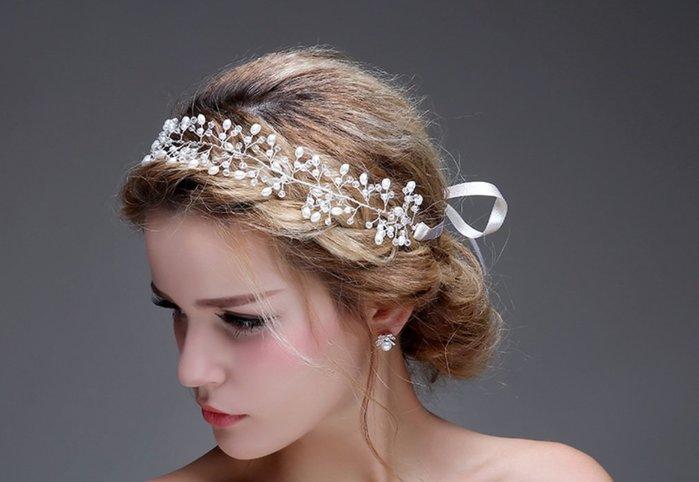 新娘飾品瑪姬主義-  F4301歐式繁星髮帶 A款 --新娘秘書新秘用品婚禮配飾專賣—