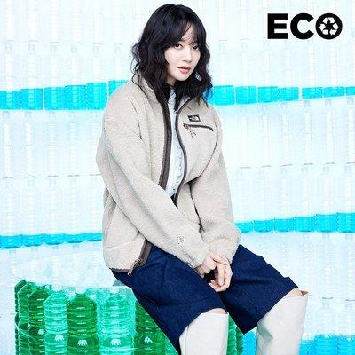 【Luxury】北臉 TNF SAVE THE EARTH JACKET 韓國 白標 女版 白色 咖啡 毛絨 厚外套