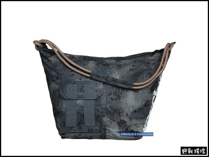 【野戰搖滾-生存遊戲】WARCHIEF 大容量迷彩側背包【暗夜潑墨迷彩】黑色斑紋迷彩包A-Tacs LE-X斜背包單肩包