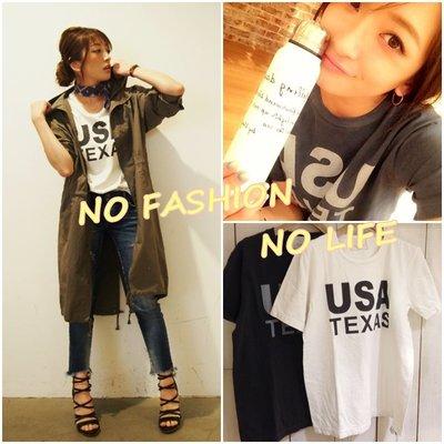 ☆NFNL☆ UNGRID 春夏新款 簡單休閒風 USA字母短袖T恤 MOUSSY 韓國 SLY TOPSHOP