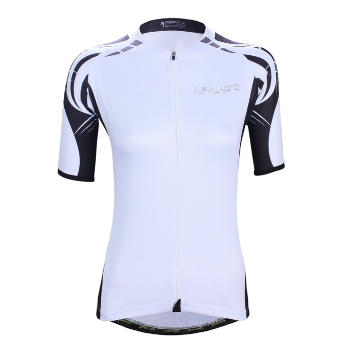 水鑽系列【ILPALADINO】競技型女士短袖車衣 :: 白色