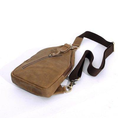 『老兵牛仔』MS006純手復古新款胸包/頭層牛皮/復古/彈力/耐拉/個性