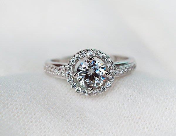【小糖雜貨舖】香港代購 正生銀飾 四爪鋯石鑲嵌碎鑽戒指 (可調式)