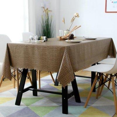 ZIHOPE 免洗桌布防油防燙防水布藝PVC茶幾餐桌墊INS歐式長方形棉麻小清新ZI812