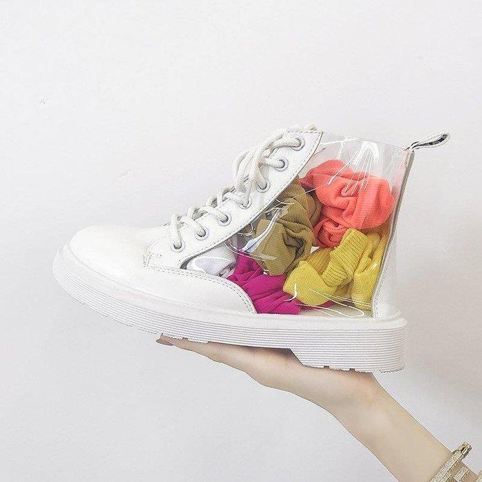 YEAHSHOP 馬丁靴女夏季新款百搭高幫透明靴子韓版嘻哈女鞋子潮學生短靴Y185