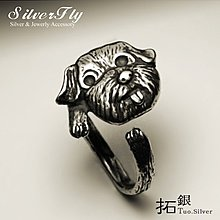 《 SilverFly銀火蟲銀飾 》拓銀-吐舌馬爾濟斯狗戒指