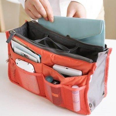 多功能雙層包中包收納包 雙拉鍊 網狀收納包 防水雙拉式手提收納包 行李箱收納【RB319】