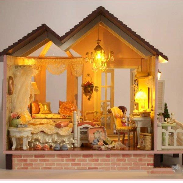 5Cgo 【鴿樓】會員優惠 17985035742 diy小屋甜蜜約定 手工房子模型拼裝 大型別墅情侶創意禮物 聖誕